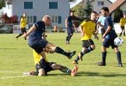 Spiele im Cup sind für gewöhnlich hart umkämpft, da es um Alles oder Nichts geht. (Bild: Walter Züst)