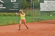 Im Tennisclub Arbon trainiert Daniela Keller nur mit Männern. (Bild: Valentina Thurnherr)