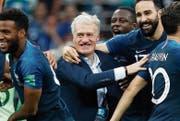 Baumeister von zwei französischen WM-Titeln: Didier Deschamps. (Bild: Felipe Trueba/Keystone (Moskau, 15. Juli 2018))