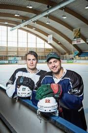 Der Herisauer Timo Meier (links) und der Churer Nino Niederreiter (rechts) in Romanshorn. (Bild: Reto Martin)