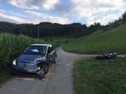 Die Unfallstelle in Neuheim. (Bild: Zuger Strafverfolgungsbehörden)