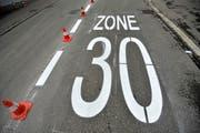 In Abtwil soll eine neue Tempo-30-Zone entstehen. (Symbolbild: Reto Martin)