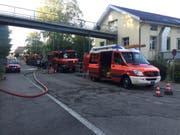 Die Feuerwehr Uzwil errichtete eine Sperre und fischte zusammen mit dem Fischerverein Thur den Bach ab. (Bild: Kapo SG)