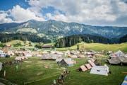 Die Zeltstadt «LUpiter18» in Escholzmatt. (Bild: Dimitri Gwinner v/o Sherpa)