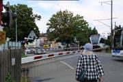 Der Bahnübergang Feldmühle ist ab 23. Oktober Geschichte. (Bild: vih)