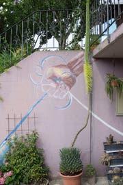 Der Blütenstängel der Königsagave ragt drei Meter fünfzig hoch in den Himmel. (Bild: Claudio Weder)