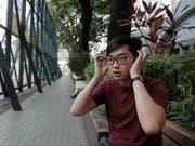 Andy Chan, der Gründer der kleinen Hongkonger Nationalpartei, gehörte 2014 zu den Teilnehmern der «Regenschirm»-Bewegung für mehr Demokratie. (Bild: KEYSTONE/AP/KIN CHEUNG)