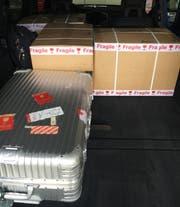 Die Schmuggler haben die Ware im Auto transportiert. (Bild: PD)