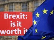 Heftige Kritik am neuen Brexit-Kurs von Premierministerin Theresa May drinnen und draussen: Protest von Brexit-Gegnern vor dem britischen Parlament in London. (Bild: KEYSTONE/EPA/ANDY RAIN)