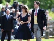 Heiraten am 22. Oktober: Prinzessin Eugenie und Partner Jack Brooksbank, hier bei der Hochzeit von Pippa Middleton und James Matthews. (Bild: KEYSTONE/AP Pool AFP/JUSTIN TALLIS)