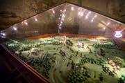Das Gefecht bei Frauenfeld 1799: Das Geländerelief ist im Massstab 1:1000, die Zinnfiguren im Massstab 1:45. (Bild: Andrea Stalder)