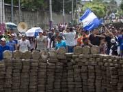 Erneut gab es Massenproteste gegen die Regierung mit Todesopfern in Nicaragua. (Bild: KEYSTONE/EPA EFE/JORGE TORRES)