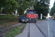 An der Industriestrasse in Zug kam es zu einem Unfall. (Bild: Zuger Polizei)