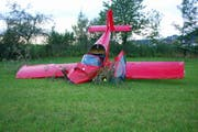 Am 14. Juli 2018 stürzte in Triengen ein einmotoriges Kleinflugzeug ab. Die Insassen hatten Glück im Unglück und überlebten den Unfall. (Bild: Luzerner Polizei via Keystone)