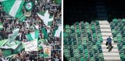 Wird der FC St.Gallen bezüglich Zuschauerzahlen vom sommerlichen Wetter profitieren? Oder bleiben die Ränge wegen der Ferien zu einem grossen Teil leer? (Bilder: Benjamin Manser)