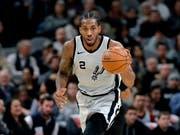 Wechselt nach sieben Saisons bei den San Antonio Spurs innerhalb der NBA zu den Toronto Raptors: Kawhi Leonard (Bild: KEYSTONE/AP/ERIC GAY)