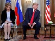 Donald Trumps Übersetzerin Marina Gross während des Treffens des US-Präsidenten mit seinem russischen Amtskollegen Wladimir Putin in Helsinki. (Bild: KEYSTONE/AP/PABLO MARTINEZ MONSIVAIS)
