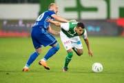 Der FC St.Gallen um Yannis Tafer sind gegen die Norweger in der Favoritenrolle. (Bild: Urs Bucher)