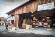 Das Gossauer Holzverarbeitungsunternehmen Gebr. Eisenring AG beabsichtigt die Realisierung eines Neubaus im Gebiet Geren in Lenggenwil. (Bild: Urs Bucher)