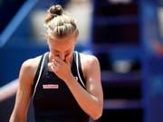 Das gab Viktorija Golubic zu denken: Niederlage in zwei Sätzen und in beiden Sätzen zwei Satzbälle vergeben (Bild: KEYSTONE/ANTHONY ANEX)