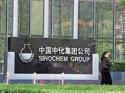 Vor dem Hauptsitz des chinesischen Chemie-Konzerns Sinochem in Peking. (Bild: Imago; 8. Juli 2011)