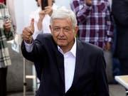 Wahlsieg: Der neue Präsident Mexikos heisst Andrés Manuel López Obrador. (Bild: KEYSTONE/AP/RAMON ESPINOSA)