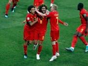 Die Belgier jubeln nach einem 0:2-Rückstand doch noch (Bild: KEYSTONE/EPA/ROMAN PILIPEY)