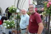 OK-Präsident Bernhard Bischof und OK-Mitglied Roland Münger ziehen eine positive Bilanz. (Bild: Georg Stelzner)