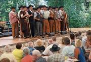 Der Chor «Coral Casa do Povo de Serpa» aus Portugal trat am «Obwald 2018» auf. (Bild: Robert Hess (Giswil,1. Juli 2018))