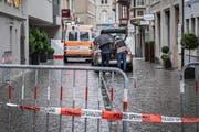 Der Tatort: die Webergasse mitten in der Stadt St.Gallen. (Bild: Urs Bucher)