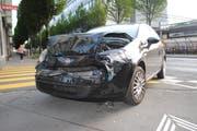Die Unfallstelle in der Stadt Luzern (Bild: Luzerner Polizei)