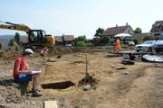 Die Arbeiten der Achräologen fanden auf einer Aushub-Baustelle statt. (Bild: Amt für Archäologie Thurgau)