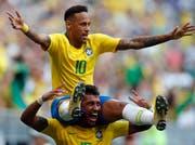 Brasilien steht – auch dank Fussball-Superstar Neymar – im WM-Viertelfinal. (Keystone/Frank Augstein)