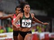 Mujinga Kambundji blieb in Monaco um zwei Zehntel über ihrem Schweizer Rekord, den sie an den Schweizer Meisterschaften in Zofingen aufstellt hat (Bild: KEYSTONE/TI-PRESS/SAMUEL GOLAY)
