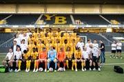 Vor einem Jahr wären diese Spieler noch günstiger zu haben gewesen: Die Young Boys beim Mannschaftsfoto vor dem Saisonstart. (Bild: Urs Lindt/freshfocus (Bern, 18. Juli 2018))