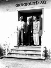 Hans Grämiger mit seinen Söhnen Leonhard (links) und Johannes. (Bild: PD)