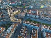 Städtisches Quartier inmitten der Zürcher Agglo: Das Limmatfeld in Dietikon liefert einen Vorgeschmack auf das, was zurzeit und in den nächsten Jahren in Luzern-Süd entsteht. (Bild: PD)