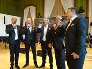 Die «Rolls Voice» mit Michael Bürgi, Andreas Schneider, Andy Zwicker, Roland Andres und Daniel Schneider. (Bild: Tobias Bolli)