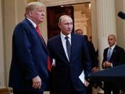 Ein baldiges Wiedersehen in Washington? US-Präsident Donald Trump und Russlands Staatschef Wladimir Putin. (Bild: KEYSTONE/AP/PABLO MARTINEZ MONSIVAIS)