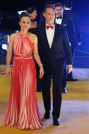 Martina Hingis und Harry Leemann haben sich das Jawort gegeben. (Bild: Steffen Schmidt/Freshfocus)