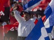 Nicaraguas Präsident Daniel Ortega bei der Feier zum 39. Jahrestag der sandinistischen Revolution in der Hauptstadt Managua. (Bild: KEYSTONE/EPA EFE/JORGE TORRES)