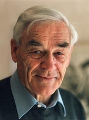 Christian Menn, Ingenieur und ehemaliger ETH-Profesor. (Bild: Martin Ruetschi/Keystone)