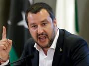 Innenminister und Lega-Chef Matteo Salvini (Aufnahme vom 5. Juli 2018 in Rom). (Bild: KEYSTONE/AP/ANDREW MEDICHINI)