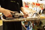 So sieht ein Euphonium aus. Foto aus der Werkstatt für Blechinstrumente bei Musikpunkt in Luzern. (Bild: Archiv LZ/2012)