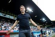 Niederlage zum Saisonauftakt: Luzern-Trainer René Weiler. Bild: Philipp Schmidli (Luzern, 21. Juli 2018))