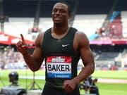 Der 24-jährige Ronnie Baker war über 100 m in London nicht zu schlagen (Bild: KEYSTONE/EPA/KIERAN GALVIN)