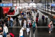 Bild aus dem Bahnhof Luzern (Bild: Philipp Schmidli)