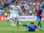 Setzte sich mit St. Gallen gegen seinen ehemaligen Klub Basel durch: Stürmer Cedric Itten (Bild: KEYSTONE/GEORGIOS KEFALAS)