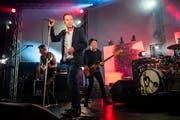 Emotional stark: Züri West mit Frontmann Kuno Lauener beim Auftritt am Blue Balls Festival im KKL. (Bild: Philipp Schmidli, 21. Juli 2018)