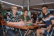 Felix Gugler, Samuele Serafino und Enthony Uka treffen sich das letzte Mal vor ihren Ferien im Us-Mex.